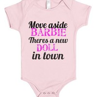Move aside Barbie-Unisex Light Pink Baby Onesuit 00