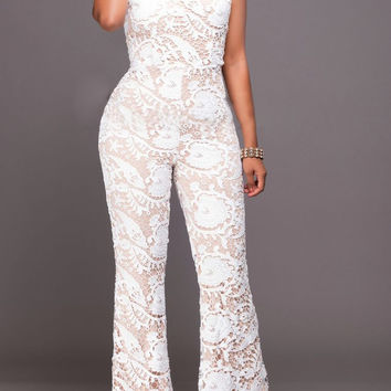 Lace Backless Sexy Jumpsuit