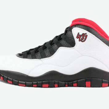 [Free Shipping] Nike Air Jordan Remastered Retro 10 X 45 Double Nickel 310805-102 Basketball Sneaker