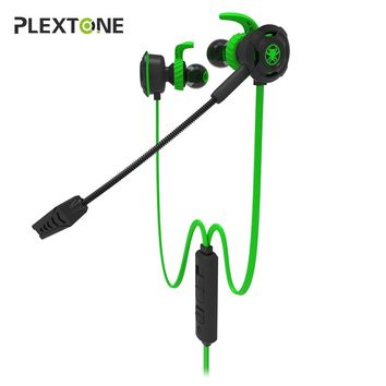 Plextone G30 In-ear Gaming Earphones Stereo Game Casque With Microphone PC Gamer Headset for Mobile Phone Computer PS4 Xbox One