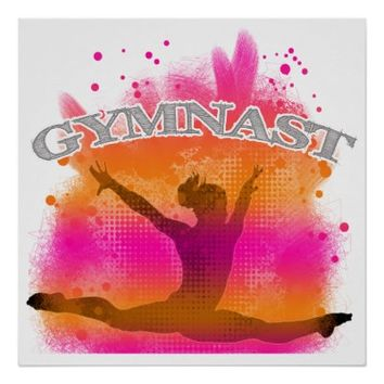 Gymnast Leaping Poster