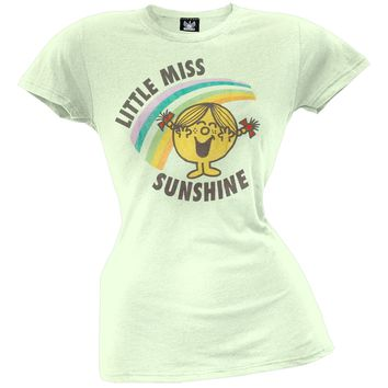 Little Miss - Sunshine & Rainbows Green Juniors T-Shirt