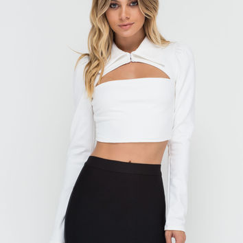 Prim 'N Proper Cut-Out Crop Top GoJane.com