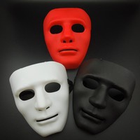 FANKASI New Halloween Mask Party DIY Scary Masks Solid Color Full Face Cosplay Masquerade Mime Mask Ball Party Costume Masks
