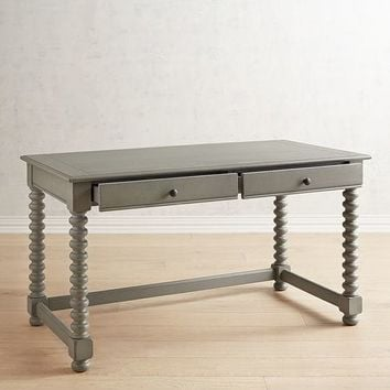 Magnolia Home Gray Spool Leg Desk