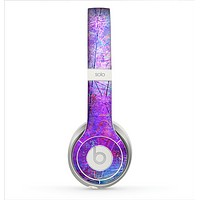 The Abstract Blue & Pink Surface Skin for the Beats by Dre Solo 2 Headphones