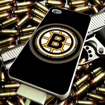 Boston Bruins Logo for iPhone 4/4s/5/5s/5c/6/6 Plus Case, Samsung Galaxy S3/S4/S5/Note 3/4 Case, iPod 4/5 Case, HtC One M7 M8 and Nexus Case ***