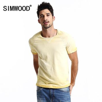 SIMWOOD 2016 Brand New Men Clothing T shirt Summer Short sleeve O-neck Casual Slim T-shirt Mens Tops Tee Free Shipping TD1095