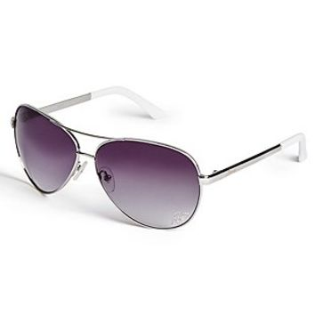 Illiana Mirrored Aviator Sunglasses at Guess