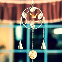 Japanese Metal Bird Wind Chimes ~