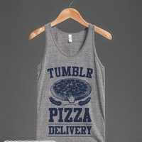 Tumblr Pizza Delivery-Unisex Athletic Grey Tank