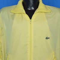 70s Izod Lacoste Yellow Windbreaker Jacket Large