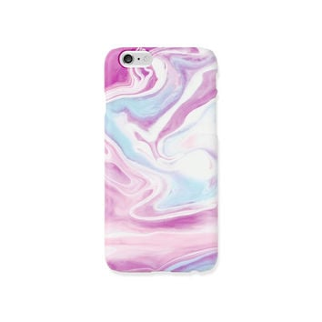 iPhone 5s case - Lavender and Violet Lilac Color Marbling - iPhone 6s case, iPhone 6 Plus case, Good Luck Gold Sticker,  non-glossy D11