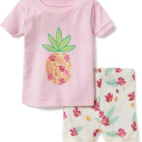 2-Piece Pineapple-Graphic Sleep Set for Toddler & Baby | Old Navy