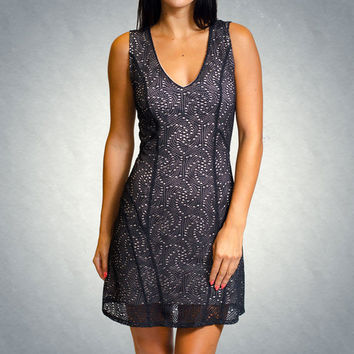 Knit Lace V-Neck Dress by Twenty Tees