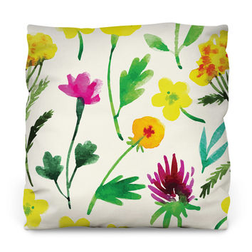 Grow Wild Outdoor Throw Pillow