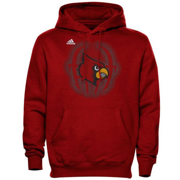 adidas Louisville Cardinals Training Helmet Pullover Hoodie - Red