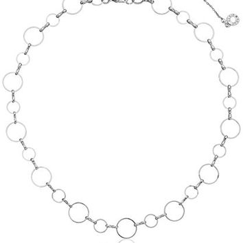 "Anne Klein ""Metal Meaning"" Silver-Tone Open Circle All Around Collar Necklace, 16"" + 3"" Extender"