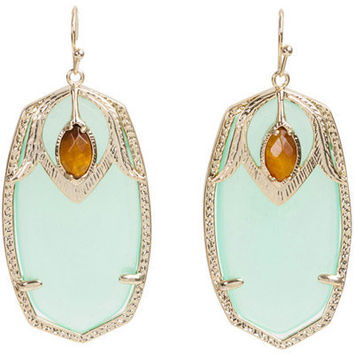 Kendra Scott Darby Earrings in Chalcedony with Tiger's Eye