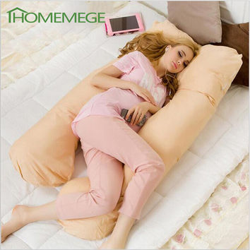 Sleeping Pregnancy Pillow Belly Contoured Maternity U Shaped Body Pillows For Side Sleeper Removable Cover 80x140cm