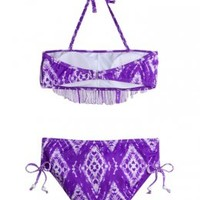 Fringe Bandeau Bikini Swimsuit | Girls Bikinis Swimsuits | Shop Justice
