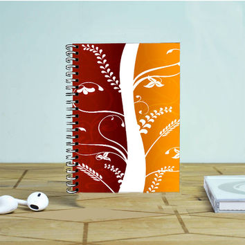 Autumn Plants Portrait Vector Photo Notebook Auroid