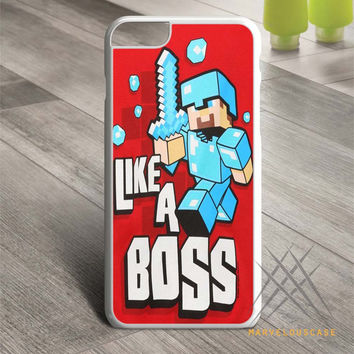 Cute Minecraft Like a Boss case for iPhone, iPod and iPad