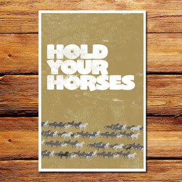 Hold Your Horses Poster
