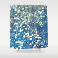 Her Mermaid Sea Shower Curtain by Lisa Argyropoulos