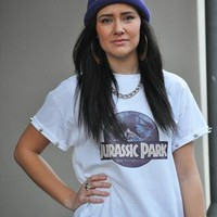 Galaxy Jurassic Park oversize studded T shirt tee top from Gone Retro