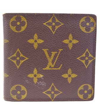 Auth LOUIS VUITTON Marco Bifold Wallet Purse Monogram Leather BN M61675 04BD606