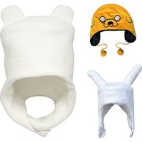 Adventure Time - Finn / Jake / Fionna - Soft Plush Cosplay Hat Warm Winter Cap fit for Adult & Children
