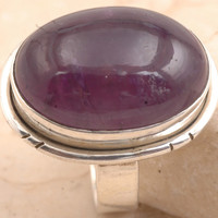 Trendy Amethyst in 925 Sterling Silver Ring