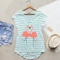 Flamingo Love Tee