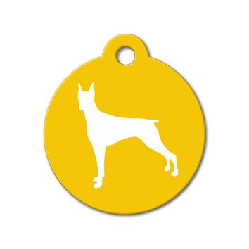 Doberman - Silhouette Pet Tag