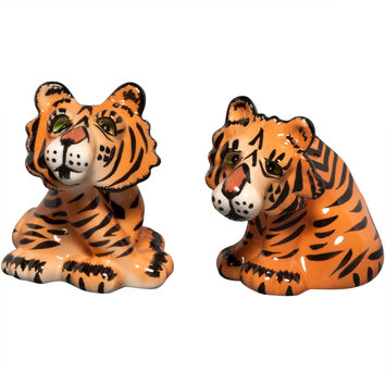 Safari Tigers Salt And Pepper Shakers