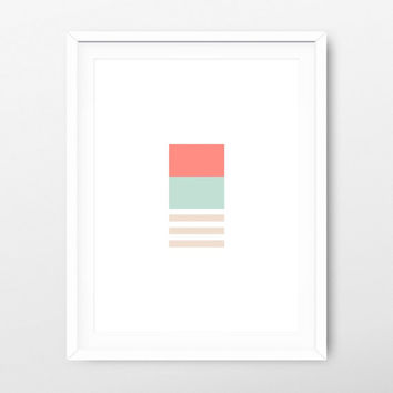 Printable Art Geometric Spring - Geometric Wall Art - Geometric Prints - Spring Art Printable - Nursery Prints - Nursery download