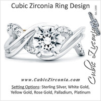 Cubic Zirconia Engagement Ring- The ________ Naming Rights 1622 (1.35 TCW Infinity Twist Bypass Split Band)