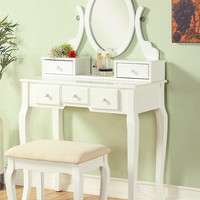 White Country French Vanity Set