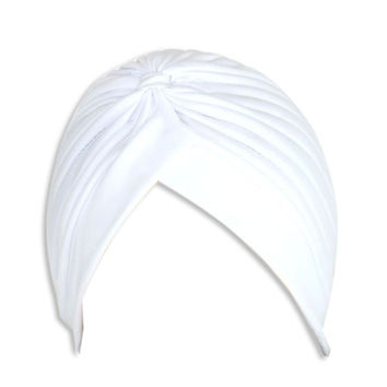 White Turban Hat