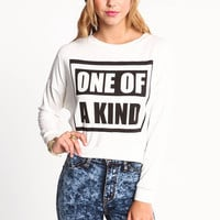 ONE OF A KIND CROP TOP