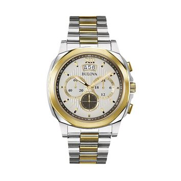 Bulova Men's Two Tone Stainless Steel Chronograph Watch