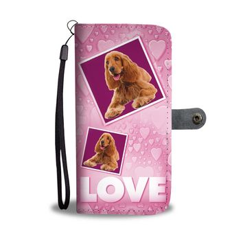 Cocker Spaniel Dog with Love Print Wallet Case-Free Shipping