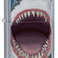Zippo Shark Teeth Street Chrome Lighter
