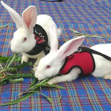 Mesh Dog Harness With Leash For Hamster Rabbits Bunny Ferret Guinea Small Animal Pets Vest Lead Pet Supplies Puppy Chest Strap