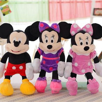 Miaoowa New 50CM High Quality Mickey or Minnie Mouse Plush Toys for Kids Baby Christmas Gift Stuffed Cute Cartoon Animal Dolls