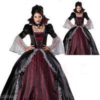 Masque Female Vampire Cosplay Dresses Halloween Uniforms Gothic Witch = 1698053828