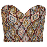 Geometric Tapestry Corset - Lingerie - Clothing - Topshop USA