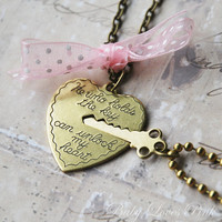 Key to My Heart  Heart and Key Couples Necklace by BabyLovesPink