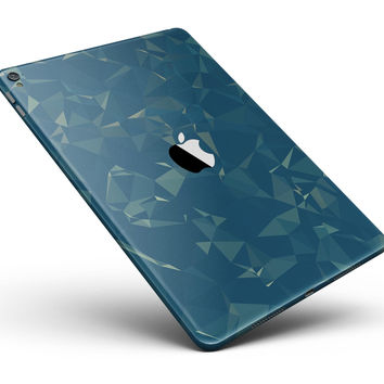 """Blue Geometric V10 Full Body Skin for the iPad Pro (12.9"""" or 9.7"""" available)"""